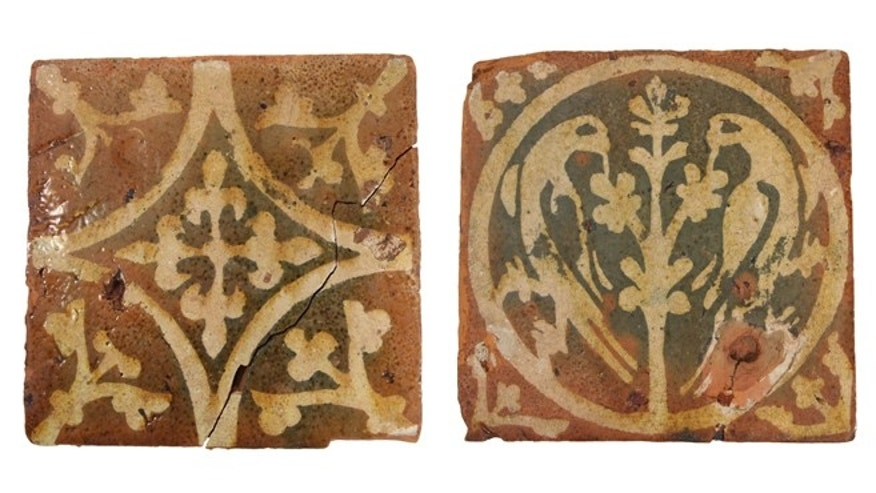 These medieval decorated floor tiles suggest that these were substantial buildings of high status.