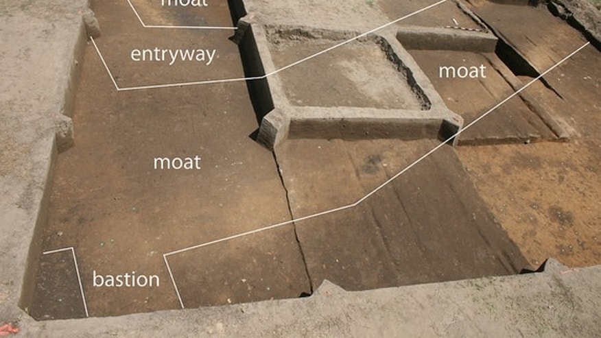 Researchers think food and sex contributed to the downfall of Fort San Juan, a Spanish garrison nearly 450 years old that was recently uncovered in North Carolina. This image shows the part of the fort that was revealed during excavations.