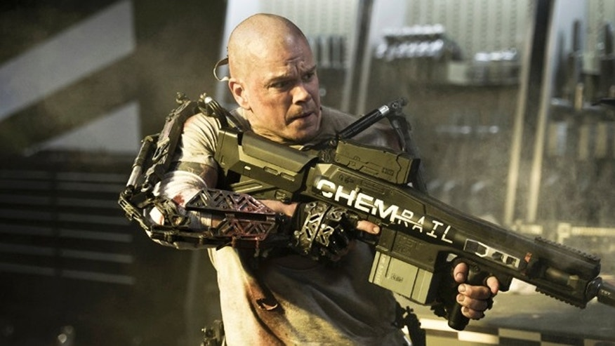 "Matt Damon stars in Columbia Pictures'"" Elysium."""