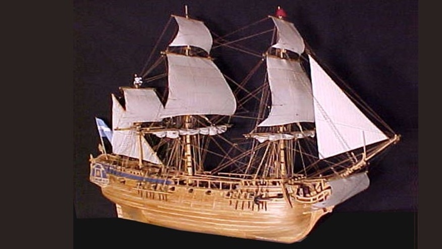 A model of the Queen Annes Revenge.