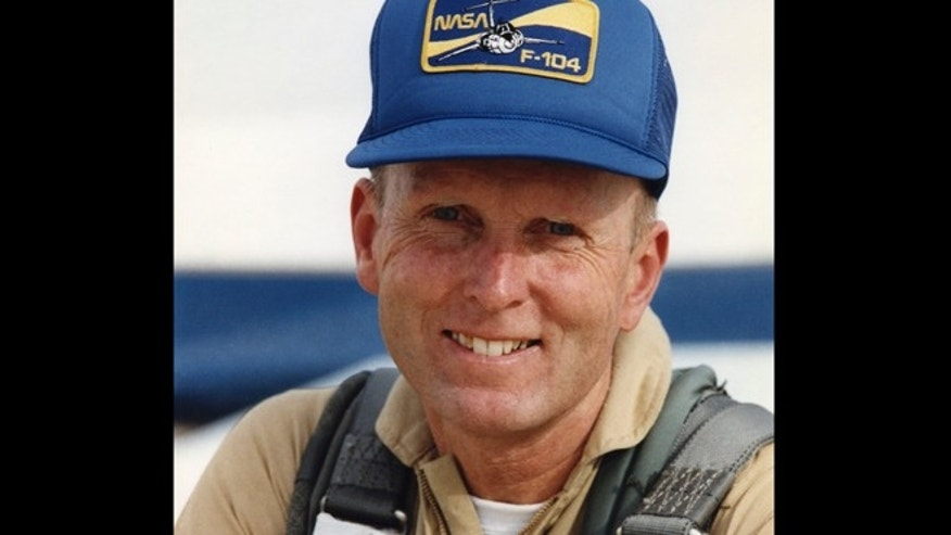 This 1989 image provided by NASA shows C. Gordon Fullerton, a NASA astronaut, research pilot and Air Force test pilot, whose career spanned almost 50 years. Fullerton died Wednesday, Aug. 21, 2013. He was 76.