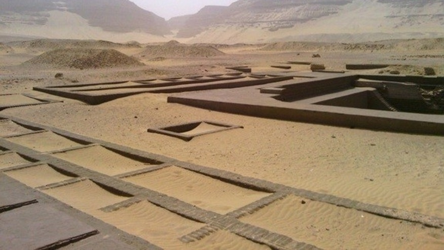 Monumental tombs of the Royal Cemetery at Abydos, Upper Egypt, where the First Dynasty kings of Egypt are buried.