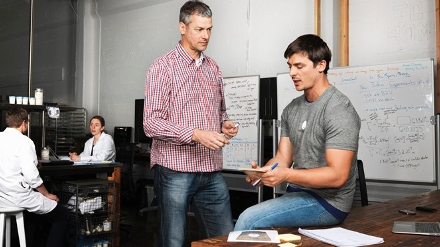 CEO Josh Tetrick and Johan Boot, vice president of research and development, for Beyond Egg.