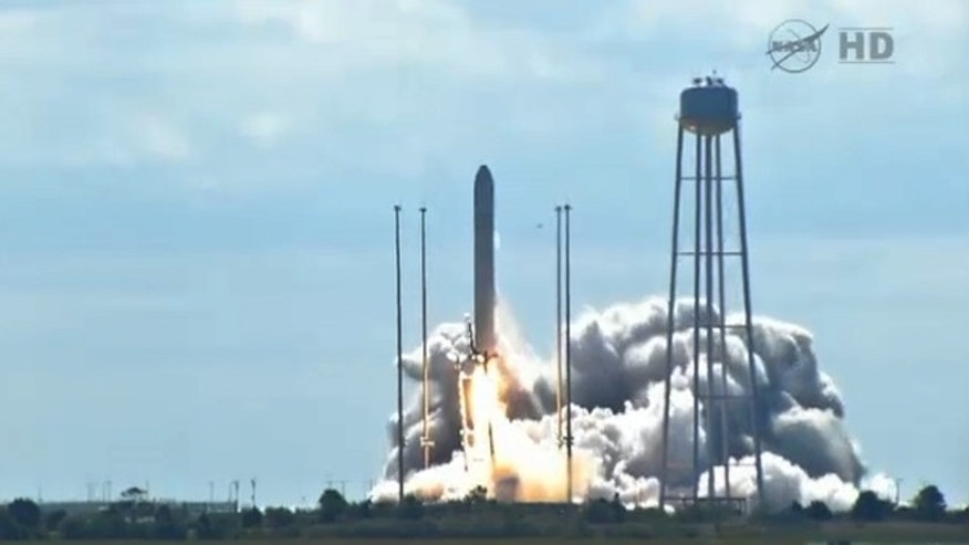 Sept. 18, 2013: A private cargo craft launches from Wallops Island in Virginia on a resupply trip to the International Space Station.