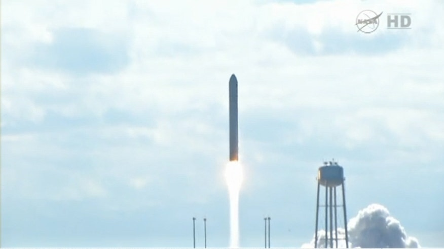 Sept. 18, 2013: A private cargo craft launches from Wallops Island in Virginia on a resupply mission to the International Space Station.