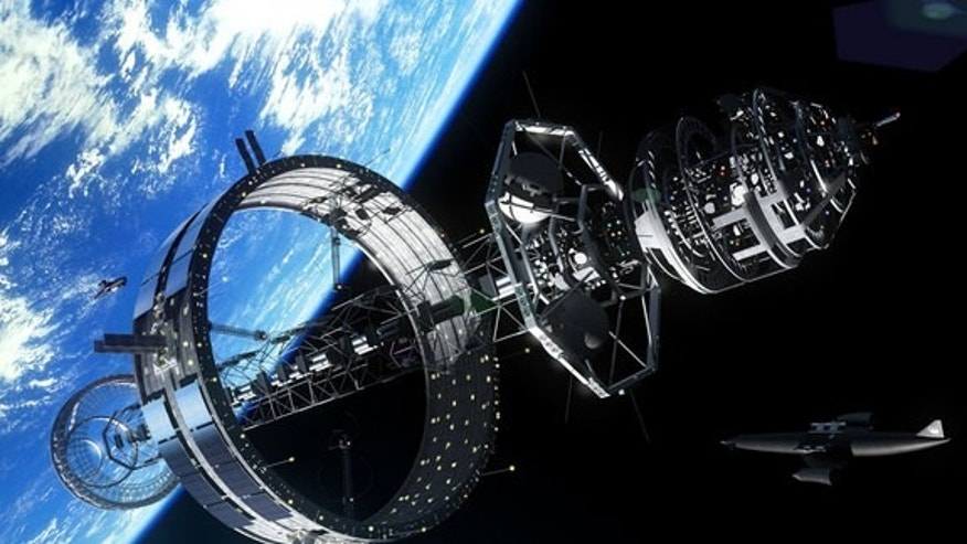 Future starships may be constructed in Earth orbit using a ring-type construction facility, which could have hotel rooms where guests could observe the construction.