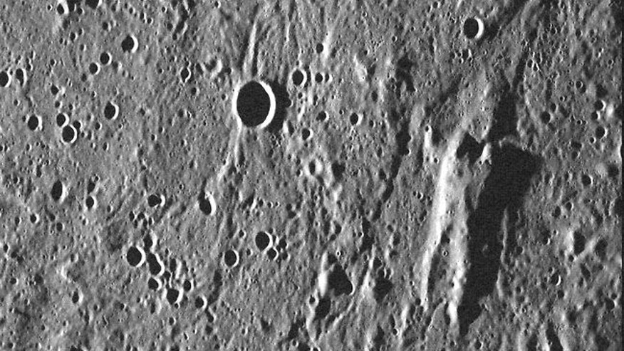 A rock formation on Mercury looks suprisingly like Han Solo encased in carbonite, NASA joked recently.