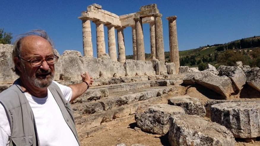 Sept. 25, 2013: Stephen Miller, professor emeritus of classical archaeology at the University of California, Berkeley, stands in front of the Temple of Neamean Zeus in southern Greece.