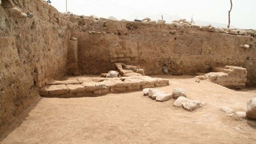 A domestic structure, with at least two rooms, that may date to relatively late in the life of the newfound ancient city, perhaps around 2,000 years ago when the Parthian Empire controlled the area in Iraq.