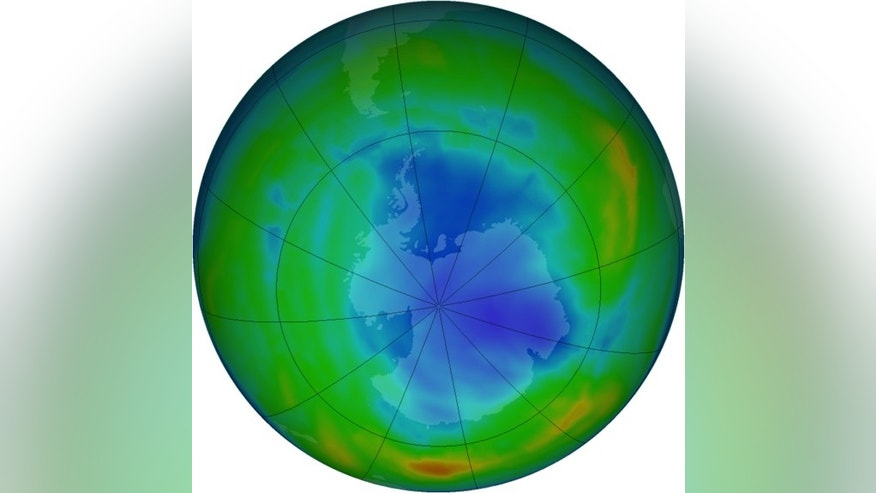 The ozone hole reached its biggest extent for the year on Sept. 26, 2013.