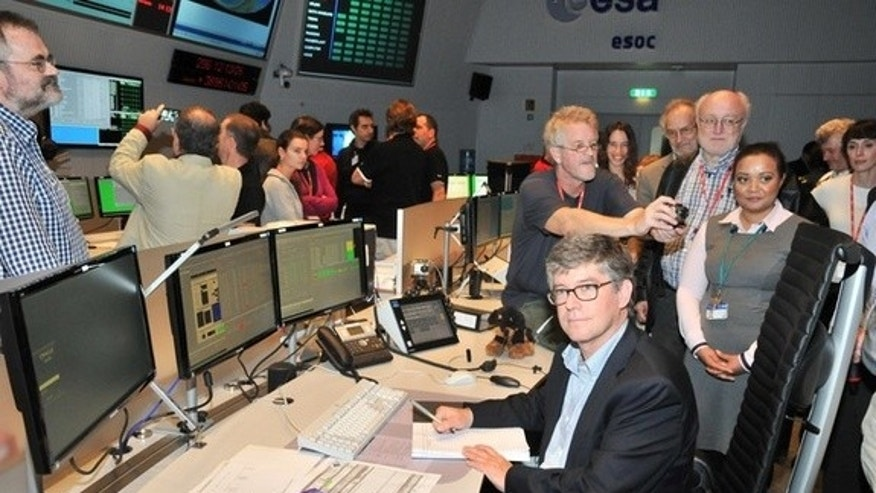 Project scientist Jan Tauber sent the final command to the Planck space telescope from ESA's European Space Operations Center in Darmstadt, Germany, on Oct. 23, 2013.