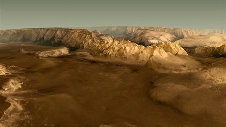 Valles Marineris on Mars.