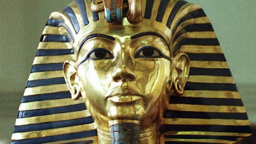 King Tut's famous death mask.