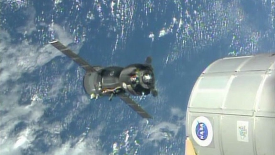 Soyuz TMA-09M moves house on the International Space Station with Russia's Fyodor Yurchikhin, the United States' Karen Nyberg and Italy's Luca Parmitano on board.