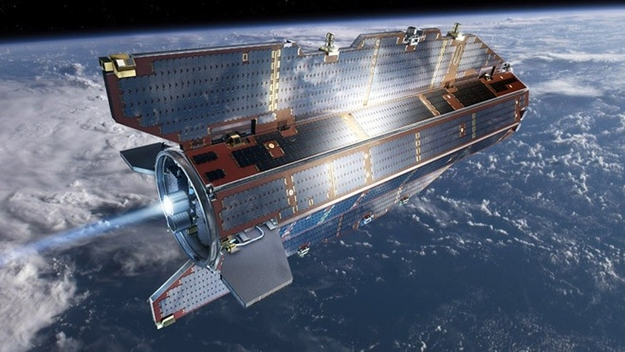 The GOCE satellite's orbit is so low that it experiences drag from the outer edges of Earth's atmosphere.