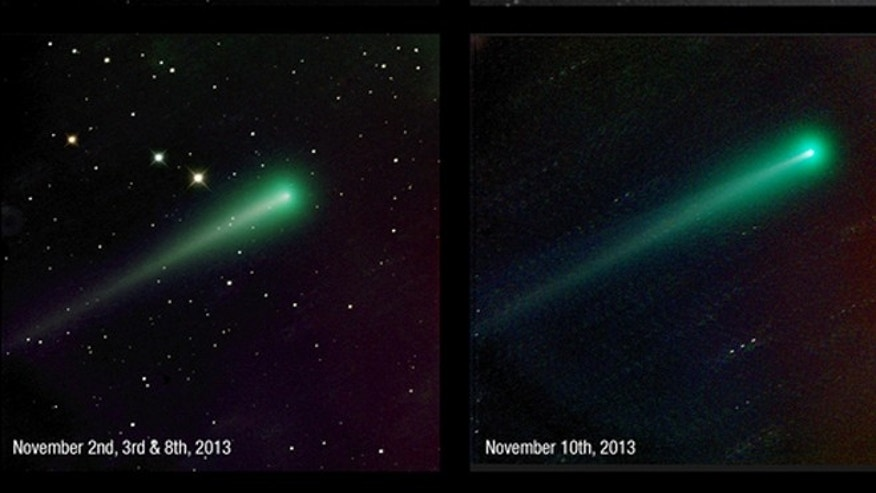 Some of Mike Hankeys observations of Comet ISON since he began imaging the comet in September.