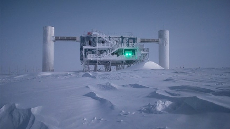 The IceCube Laboratory sits on the surface of the ice on top of the detector, collecting data from sensors under the ice. All 5,160 sensors that make up the in-ice array are connected to the lab via cable.