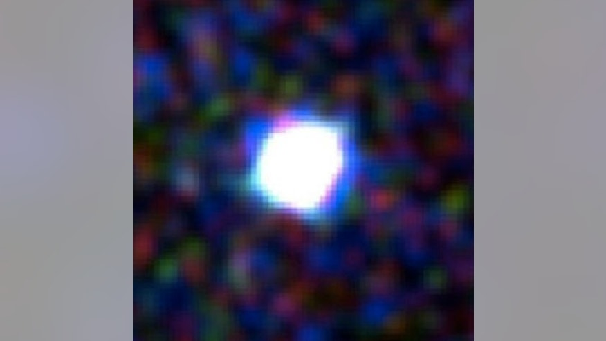Close-up image of the brightest gamma-ray burst ever seen, taken in April 2013 by the ultraviolet/optical telescope on NASA's Swift satellite.