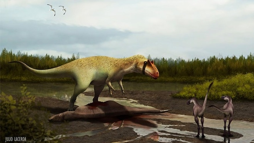A newly found, meat-eating Cretaceous dinosaur is now on the list of the top three largest North American predatory dinosaurs.