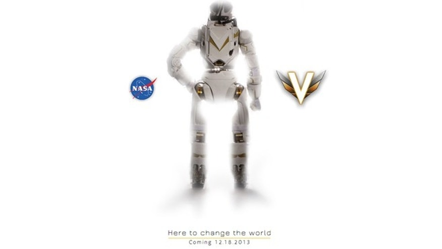 "Valkyrie's website says the robot is ""here to change the world."""