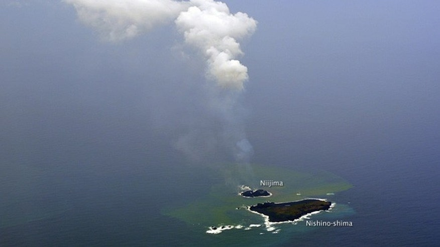 Niijima -- a new island formed from volcanic eruptions in the South Pacific Ocean -- is still erupting and growing. Scientists from the Japan Meteorological Agency think the island is large enough to survive for at least several years, if not permanently.