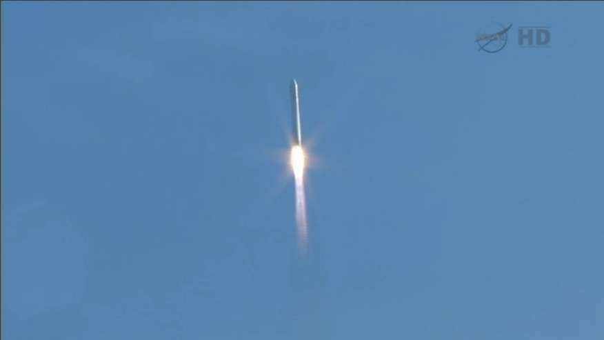 Jan. 9, 2014: A private space ship blasts off from NASA's Wallops Island, Va., facility en route to the space station.