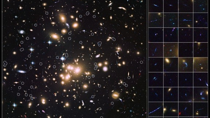 Using the Hubble Space Telescope and the light-bending properties of the massive galaxy cluster Abell 1689, astronomers have captured images of the faintest galaxies in the early universe.