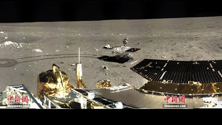 1st 360 degree color panorama from Chinas Change-3 Lunar Lander.