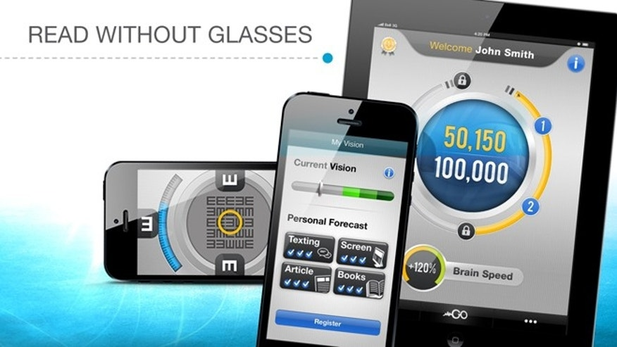 The GlassesOff app cdan train your brain to improve your vision.