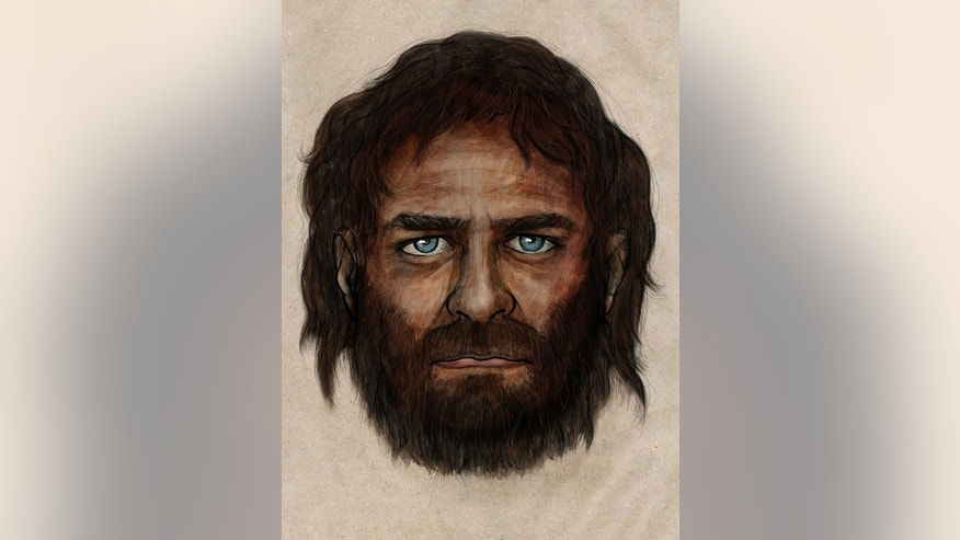 An illustration of what the ancient hunter-gatherer may have looked like
