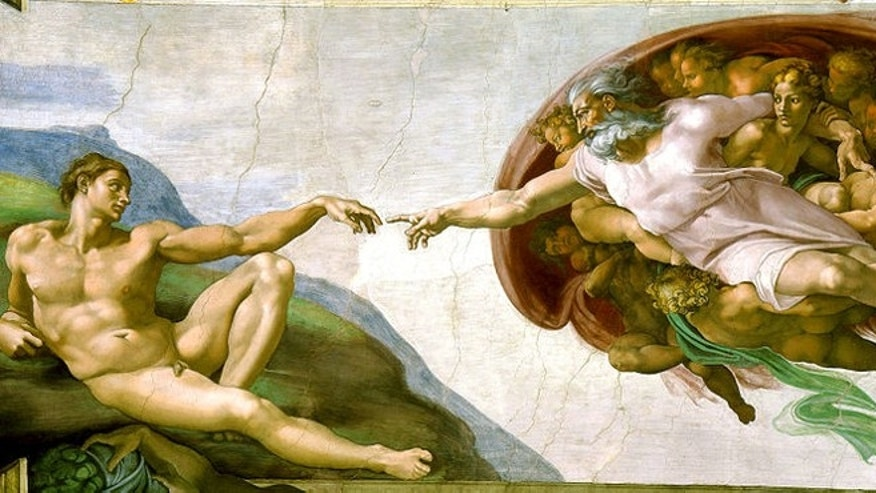 Michelangelo's Creation of Adam.