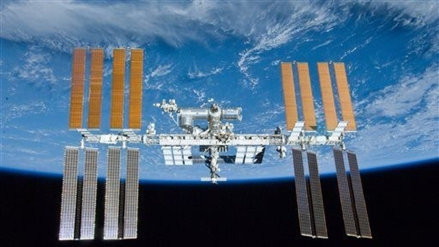 This May 23, 2010 image provided by NASA shows the International Space Station.