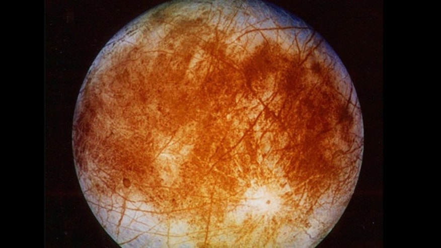 This Nov. 12, 1996 photo shows Jupiter's ice-covered moon, Europa, from the Galileo spacecraft. NASA said it is making preparations to plan a robotic mission to the distant moon, a place where astronomers speculate there might be life.