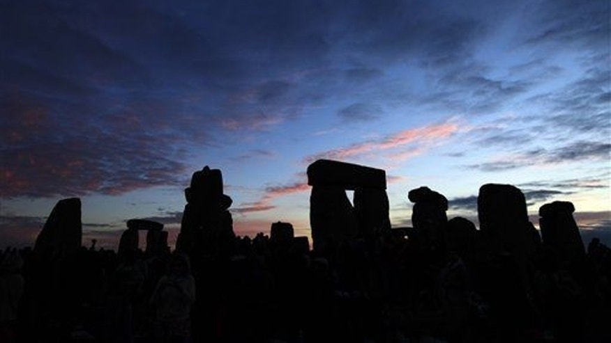 The Stonehenge monument in England is seen, early Monday, June 21, 2010.