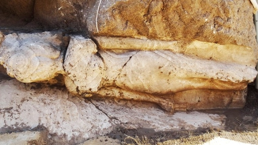 March 7, 2014: Egypt has announce that a team of European archaeologists have found this nearly 6 ½-foot-tall alabaster statue of a pharoanic princess, dating from approximately 1350 B.C., outside the southern city of Luxor.
