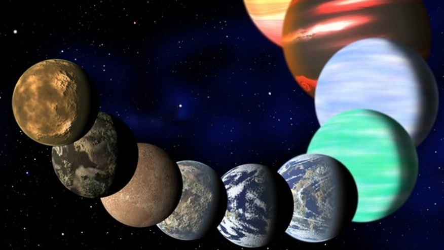 This artist's illustration represents the variety of planets being detected by NASA's Kepler spacecraft. Scientists now say that one in six stars hosts an Earth-size planet.