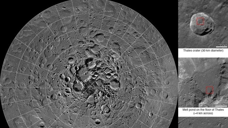 March 18, 2014: Scientists, using cameras aboard NASA's Lunar Reconnaissance Orbiter have created the largest high resolution mosaic of our moon's north polar region.