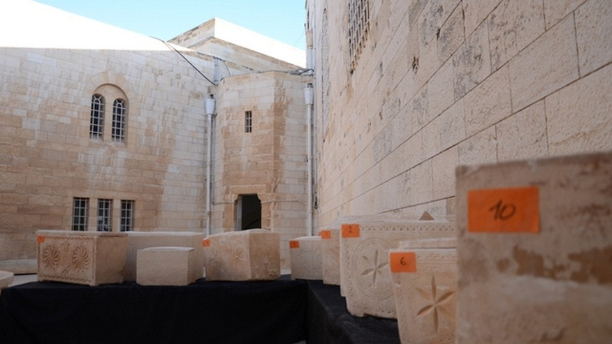 11 ancient burial boxes were recovered by Israeli Police on Friday, March 28.