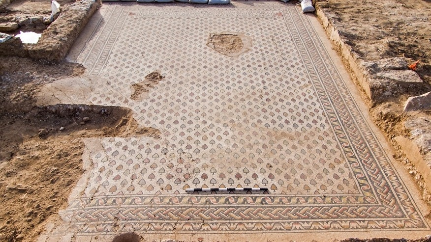 Another mosaic floor found in the monestary in Israel.