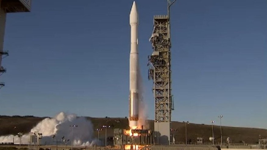 A $518 million military weather satellite that has been waiting 15 years to shine was launched into orbit Thursday at Vandenberg Air Force Base in California.