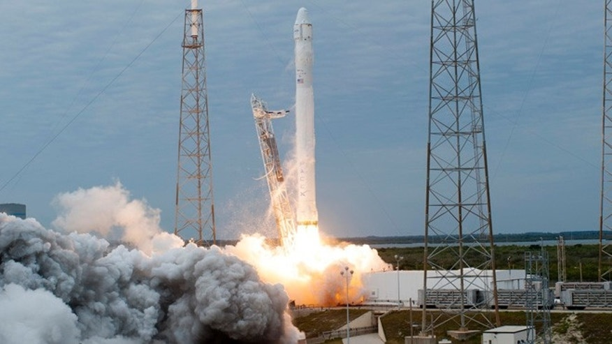 A SpaceX Falcon 9 rocket carrying a Dragon capsule filled with cargo for the International Space Station lifts off from the Space Launch Complex 40 on Cape Canaveral Air Force Station in Florida in this March 1, 2013 NASA handout photo obtained by Reuters.