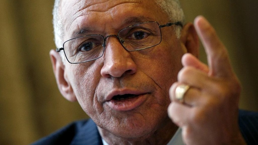 Head of US National Aeronautics and Space Administration, NASA, Charles Bolden, speaks during a press conference in Berlin, Monday, May 19, 2014.