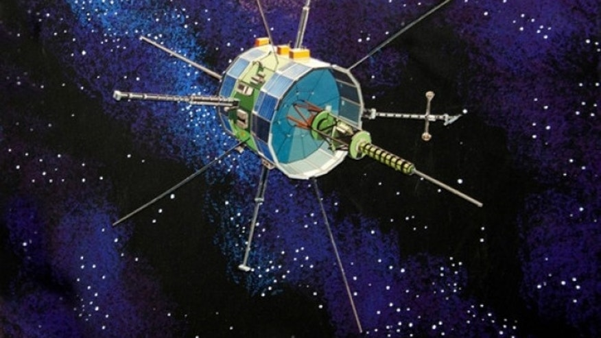 An artist's concept image of ISEE-3 spacecraft. (NASA)