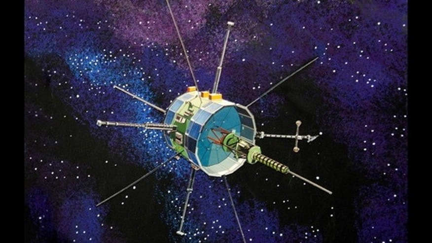 This artist's illustration depicts the vintage International Sun-Earth Explorer 3 (ISEE-3) spacecraft.