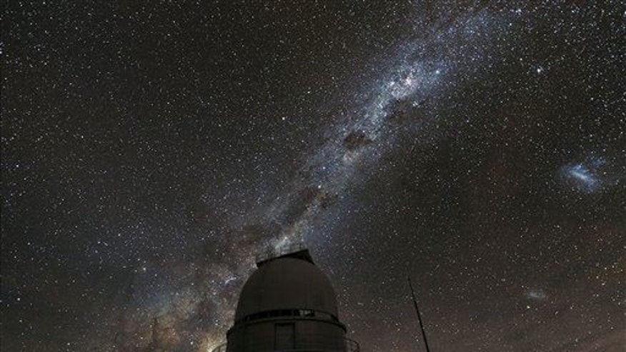 This photo provided by the European Southern Observatory shows the Milky Way above the La Silla Observatory in Chile.