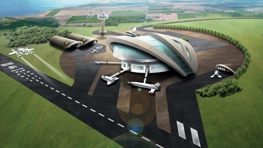The concept art for the UK Spaceport expected to launch its first suborbital flight in 2018.