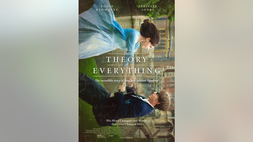 "The new poster for the movie ""The Theory of Everything"" shows Stephen Hawking and his first wife Jane."
