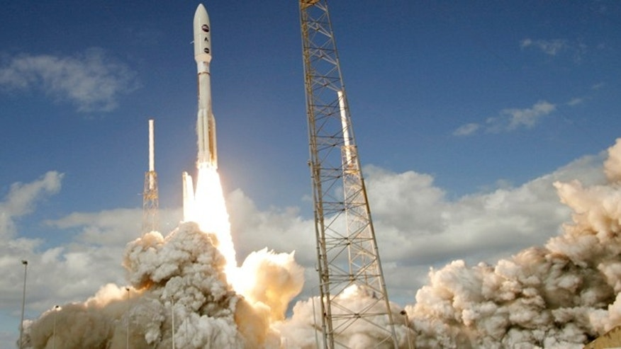 Jan. 19, 2006: The Atlas V rocket with the New Horizons spacecraft blasts off from complex 41 at the Cape Canaveral Air Force Station in Cape Canaveral, Florida.