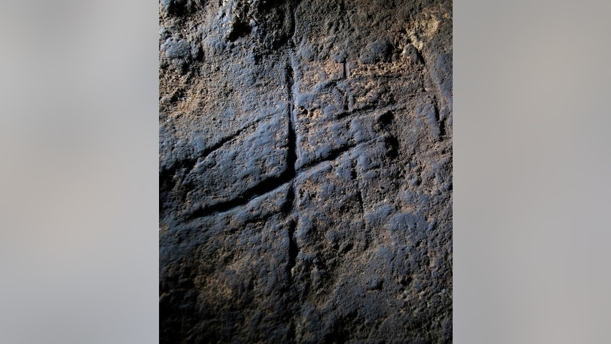 This abstract cave carving is possibly the first known example of Neanderthal rock art.