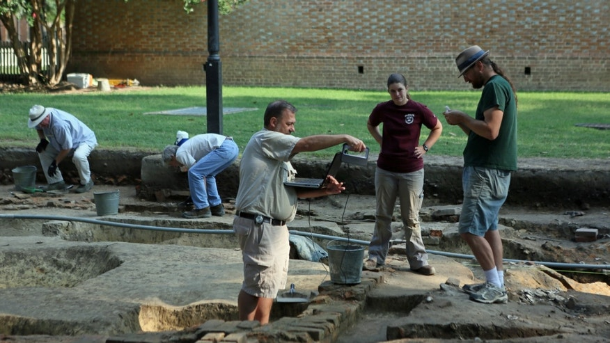 The remains of what is believed to be an 18th century brewery were discovered just outside of the nation's oldest college buildings.